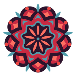 Símbolo de mandala festival holi