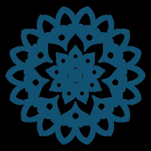 Mandala de Holi plana Transparent PNG