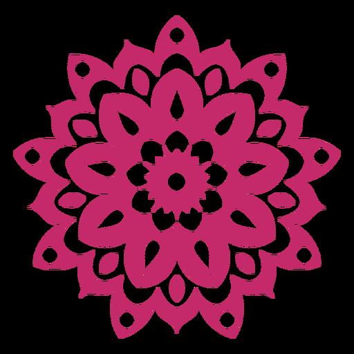 Icono de mandala holi Transparent PNG