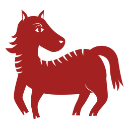 Horse mane chinese astrology silhouette