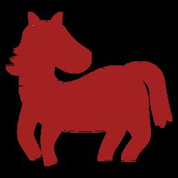 Silhueta de astrologia chinesa de juba de cavalo