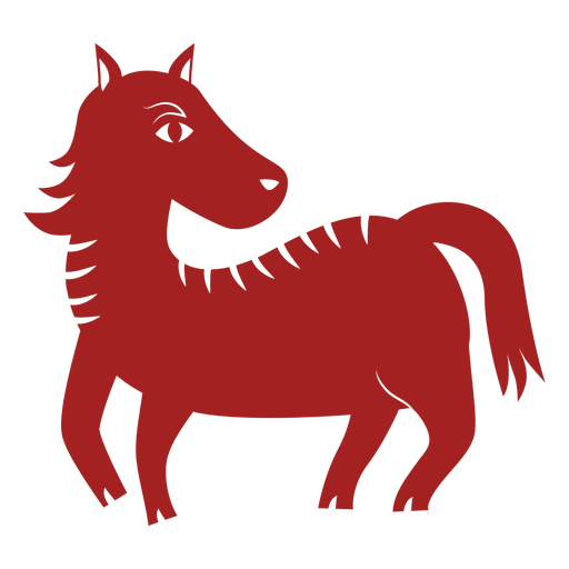 Horse mane chinese astrology silhouette Transparent PNG