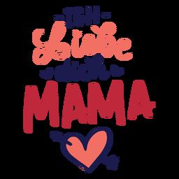 Ich liebe dich mama alemão coração texto adesivo