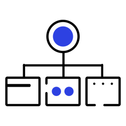 Icono de trazo de círculo de dispositivo de conexión