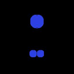 Symbol-Verbindungsgerät-Kreisstrich
