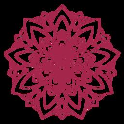 Festival de holi indio mandala
