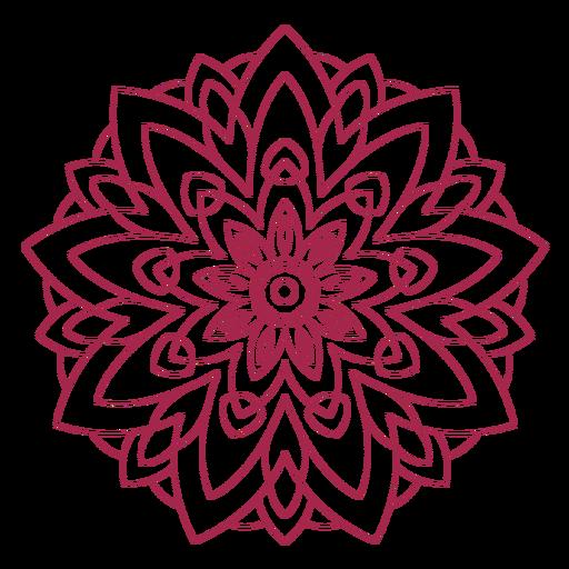 Mandala do festival de holi indiano Transparent PNG