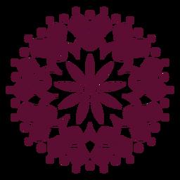 Icono de mandala del festival holi indio