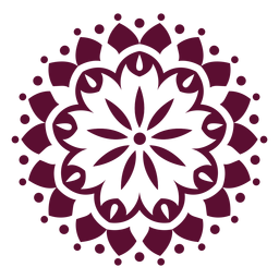 Indian holi festival mandala icon