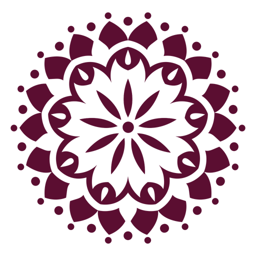Indian holi festival mandala icon Transparent PNG