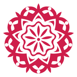 Holi festival mandala símbolo indio