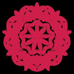 Símbolo de mandala del festival holi indio