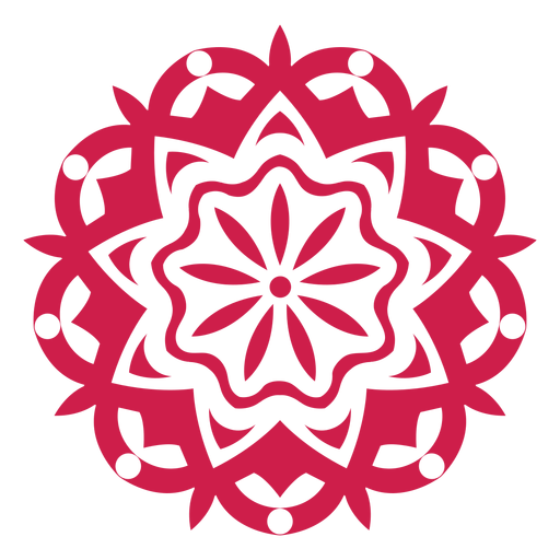 Indian holi festival mandala symbol Transparent PNG