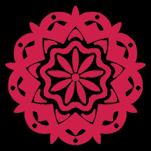 Indisches holi Festival-Mandalasymbol Transparent PNG
