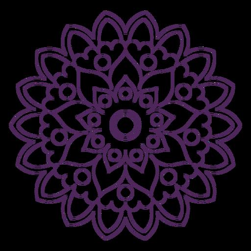 Mandala de holi indio Transparent PNG