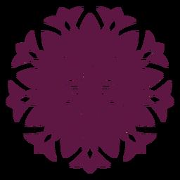 Ícono de mandala de holi indio