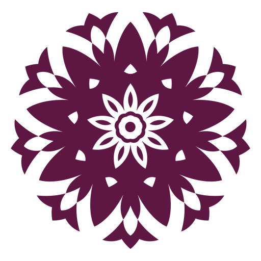 Ícone de mandala de holi indiano Transparent PNG