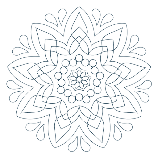 Indian Holi Mandala Line Transparent PNG