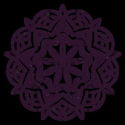 Esboço de mandala de holi indiano
