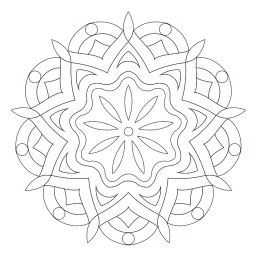 Indian holi mandala outline Transparent PNG