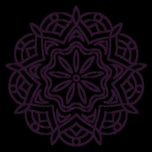 Indio holi mandala contorno Transparent PNG