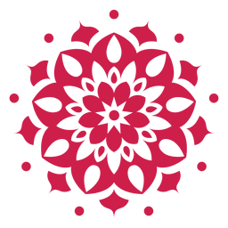 Indian holi mandala symbol
