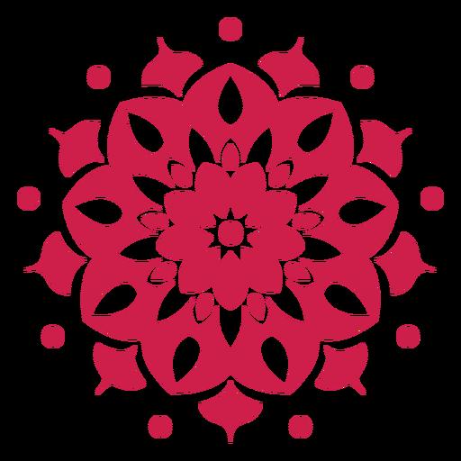 Símbolo de mandala de holi indiano Transparent PNG