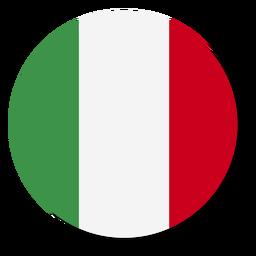 Círculo de icono de idioma de bandera de Italia