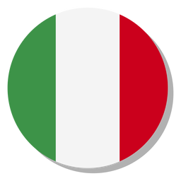 Italy flag language icon circle