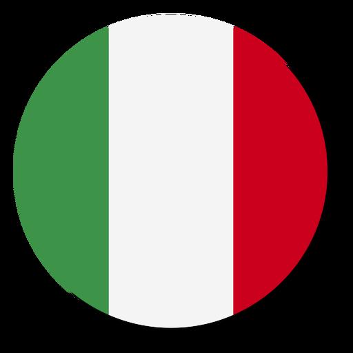 C?rculo de icono de idioma de bandera de Italia