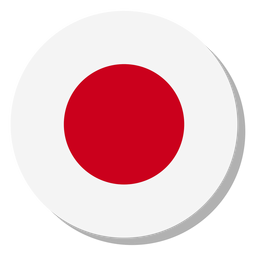 Círculo de ícone de bandeira do Japão
