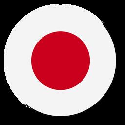Círculo de icono de idioma de bandera de Japón