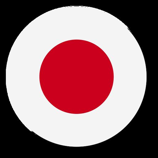 Círculo de ícone de bandeira do Japão Transparent PNG