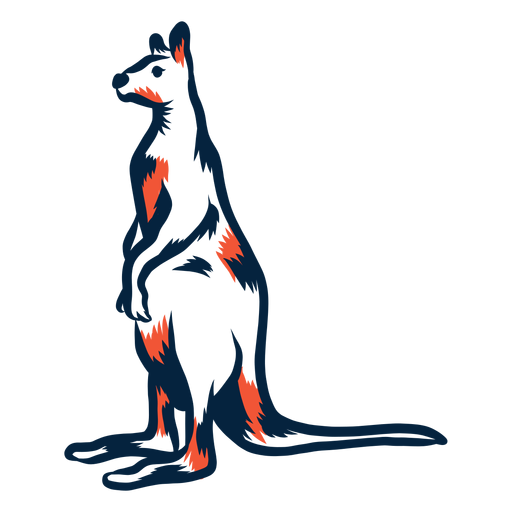 Canguro de pie duotono Transparent PNG