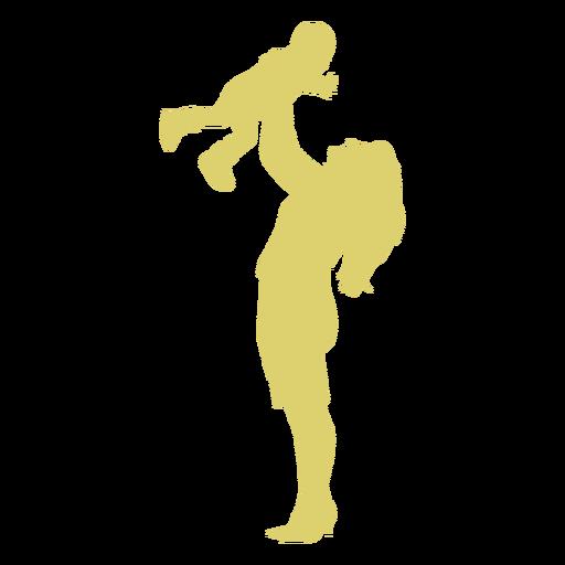 Kind Kind Mutter Silhouette Transparent PNG