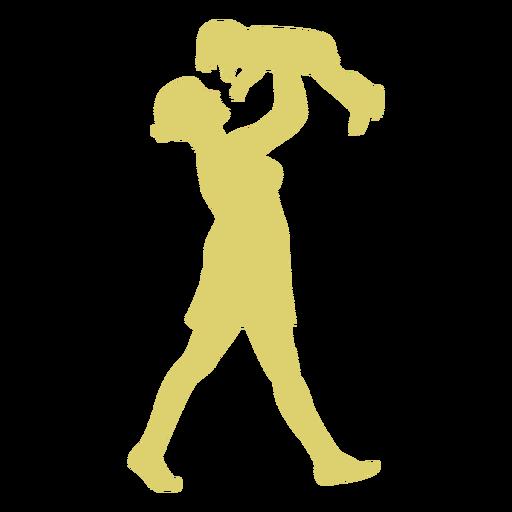 Criança, mãe, criança, silueta Transparent PNG