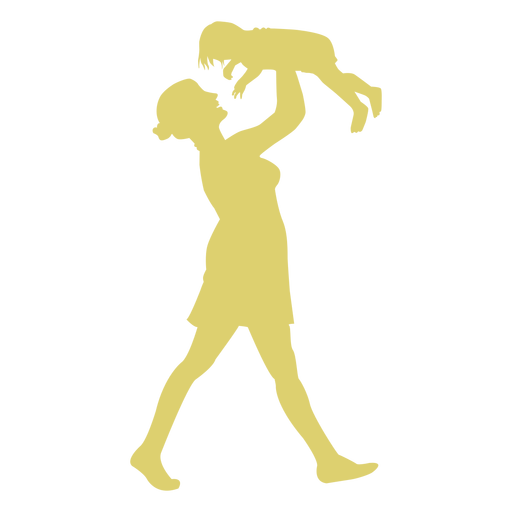 Kid mother child silhouette Transparent PNG