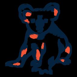 Urso coala duotônico