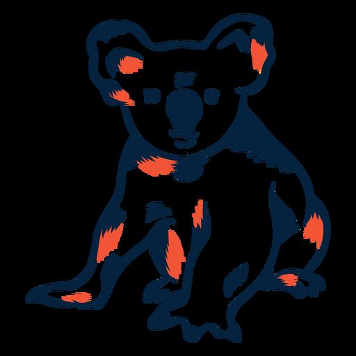 Duotono oso de koala Transparent PNG