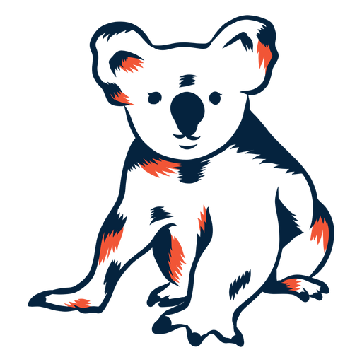 Koala bear duotone Transparent PNG