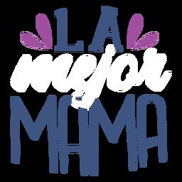 Pegatina de texto en español la mama