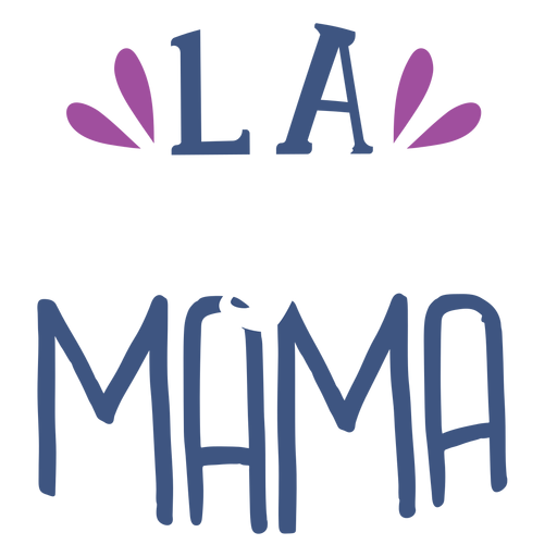 Pegatina de texto en español la mama Transparent PNG