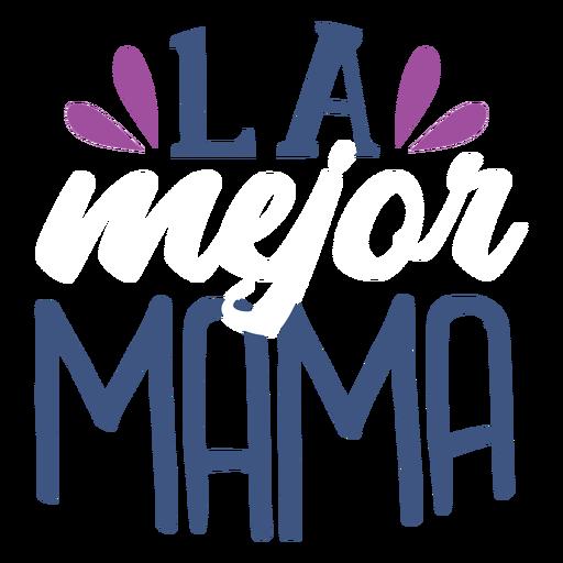 Spanisch spanischer Textaufkleber der Mutter Transparent PNG