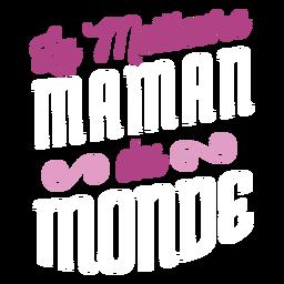 La meilleure du french text sticker