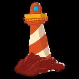 Ilustración de torre de reflector de reflector de faro
