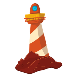 Lighthouse searchlight floodlight tower illustration