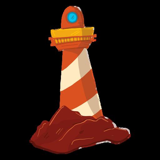 Ilustración de torre de reflector de reflector de faro Transparent PNG