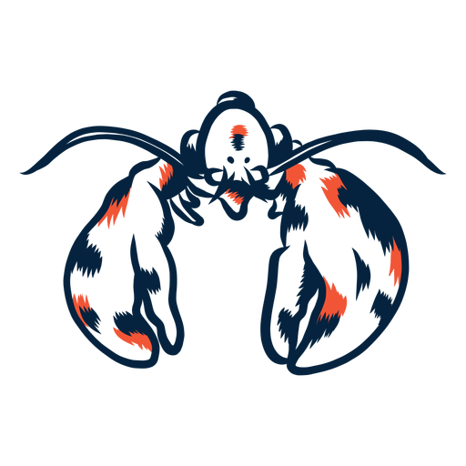 Lobster front view duotone Transparent PNG