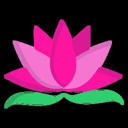 Lotusblatt flach