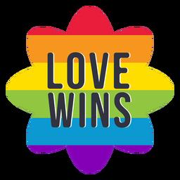 El amor gana el arco iris lgbt pegatina